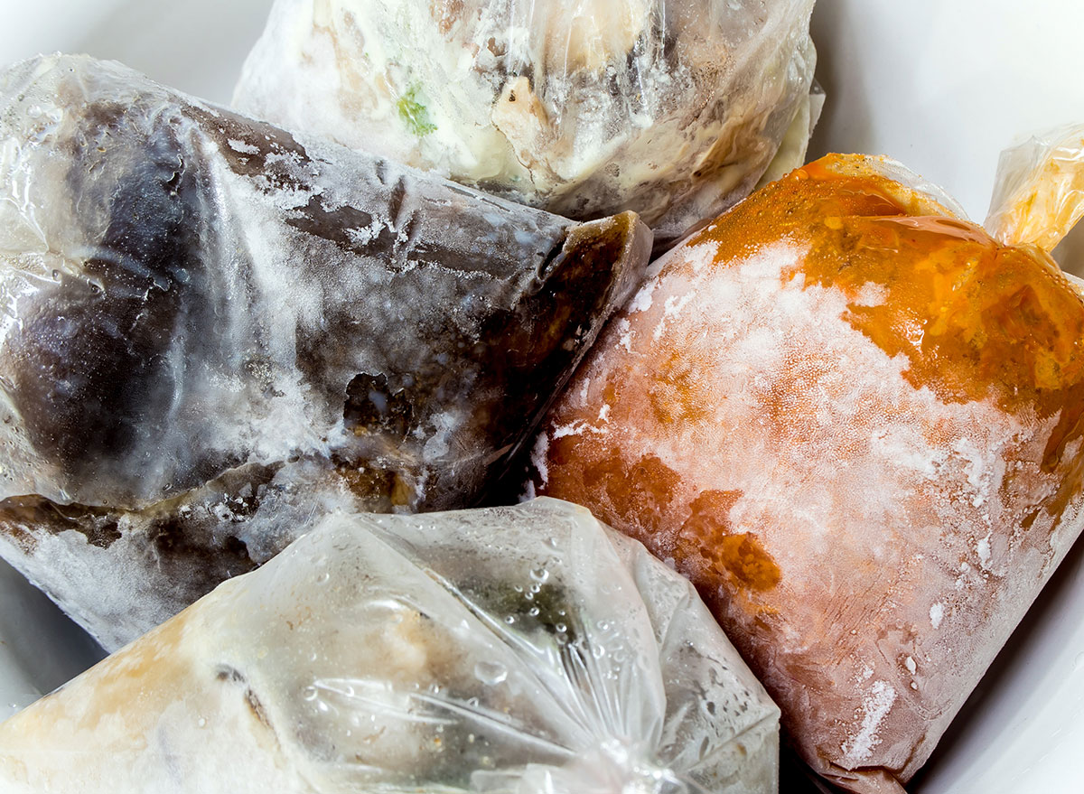 miscellaneous frozen food in bags