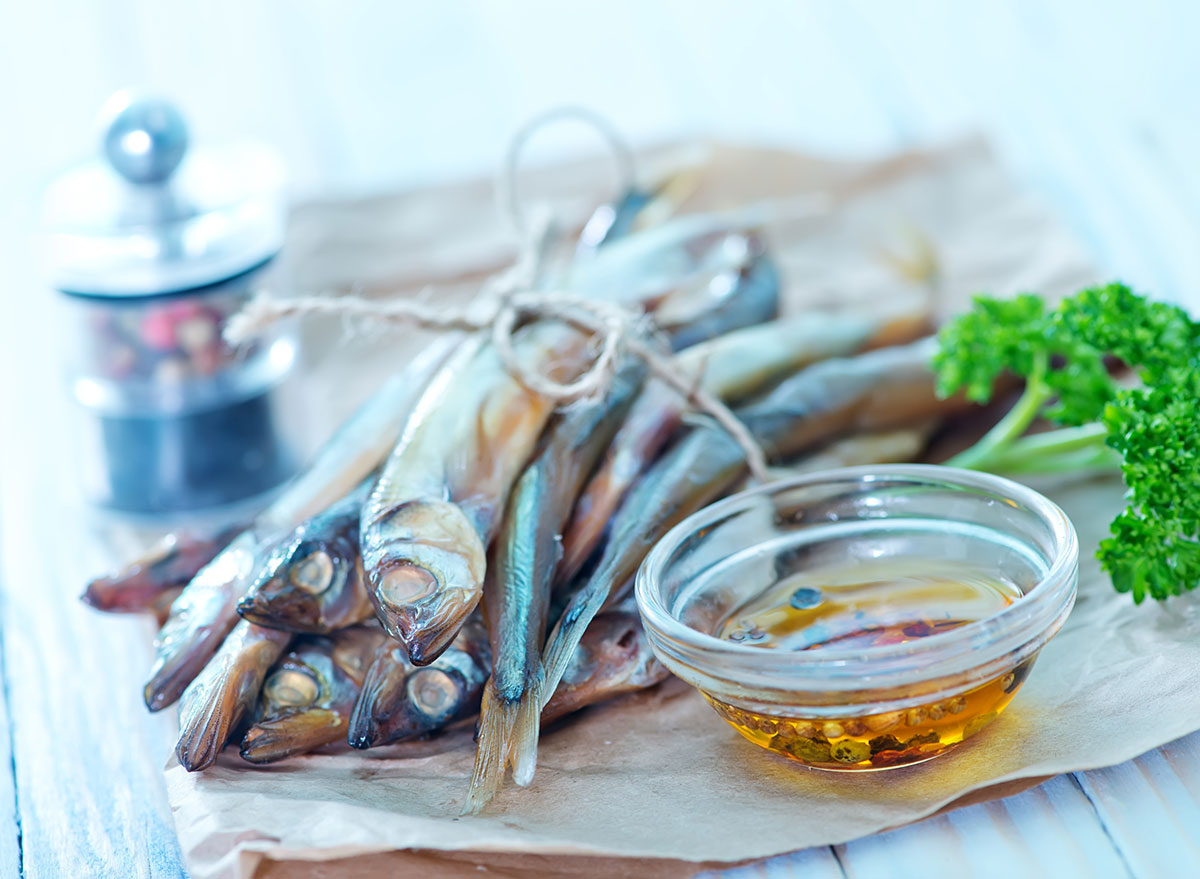 oily fish on paper