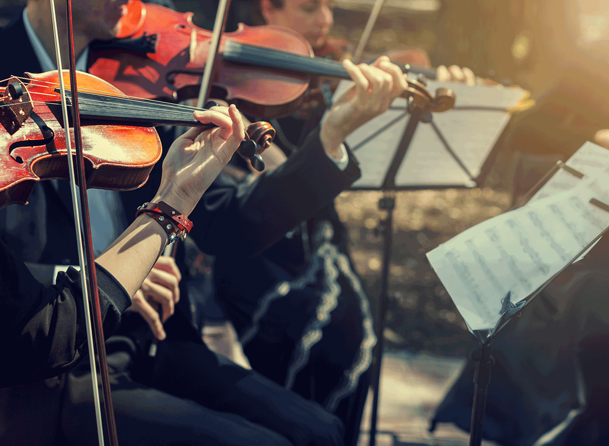 orchestra playing classical music