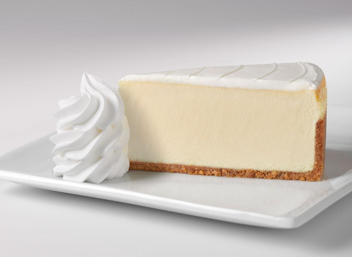 cheesecake factory original cheesecake slice