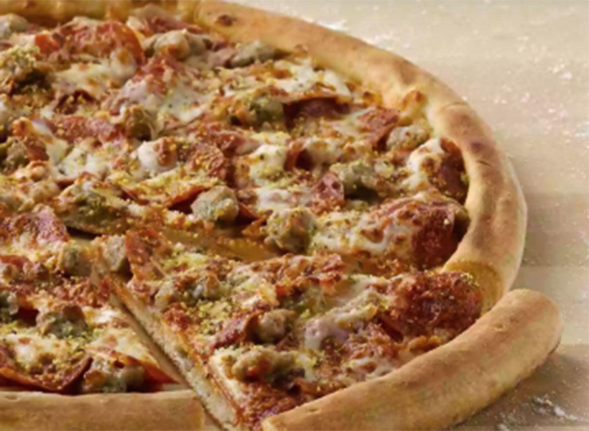 papa johns pepperoni sausage six cheese pizza
