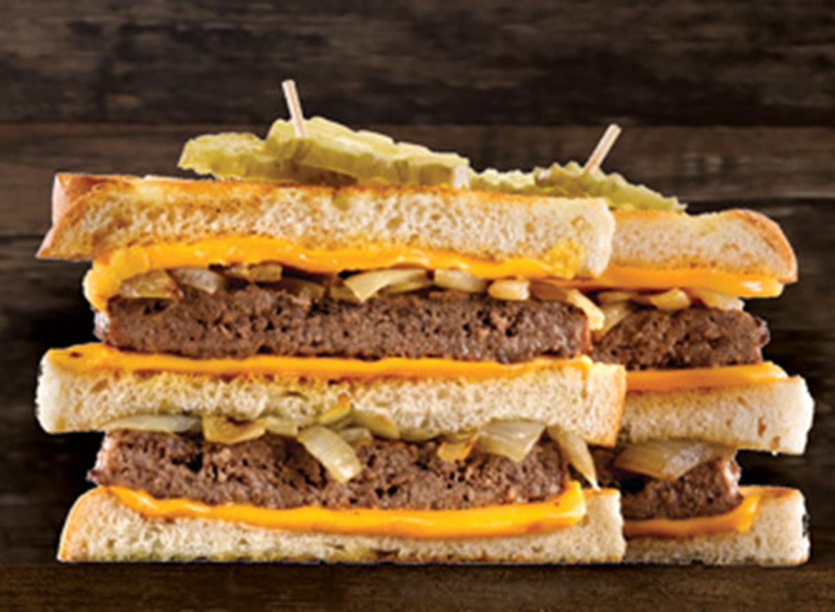 perkins patty melt pile on sandwich