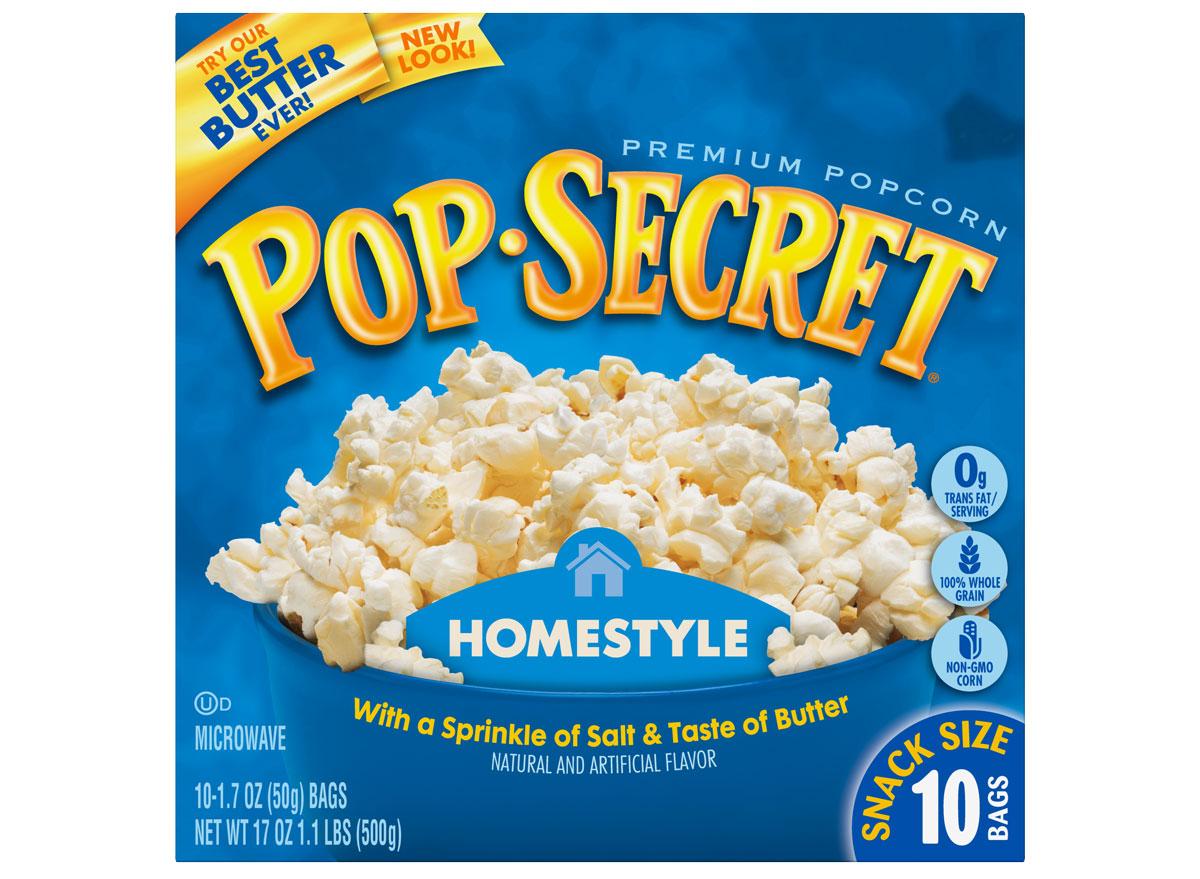 popsecret homestyle popcorn