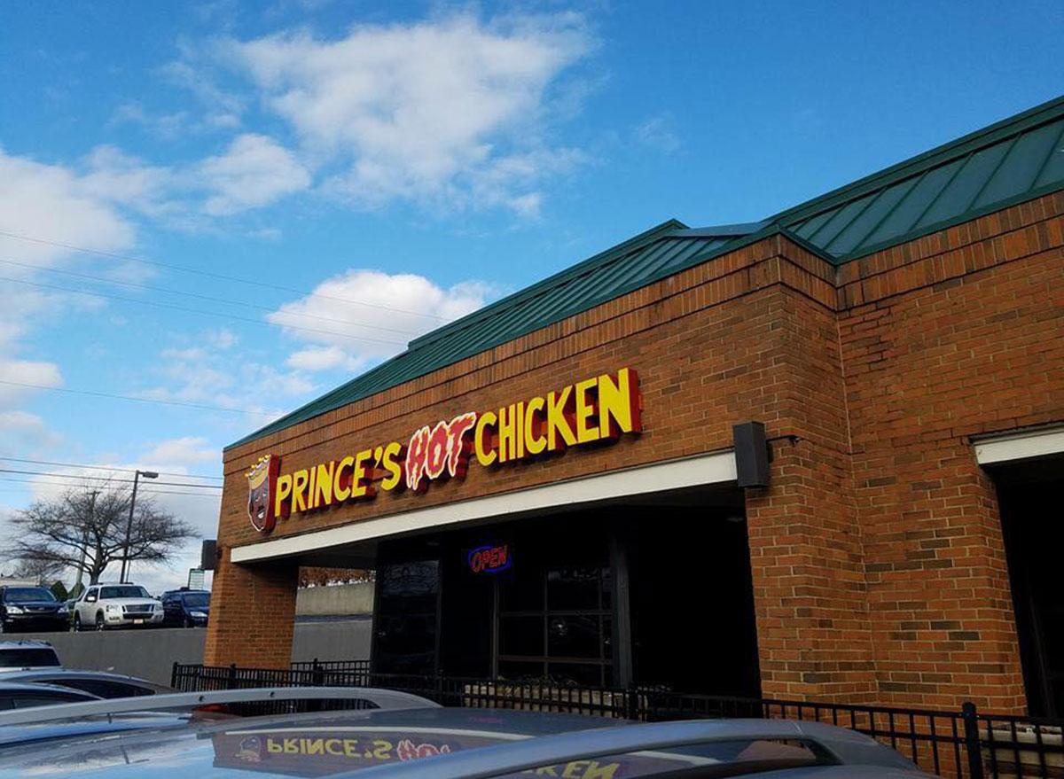 princes-hot chicken shack in nashville tennessee