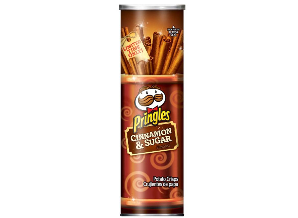 pringles cinnamon sugar flavored chips can