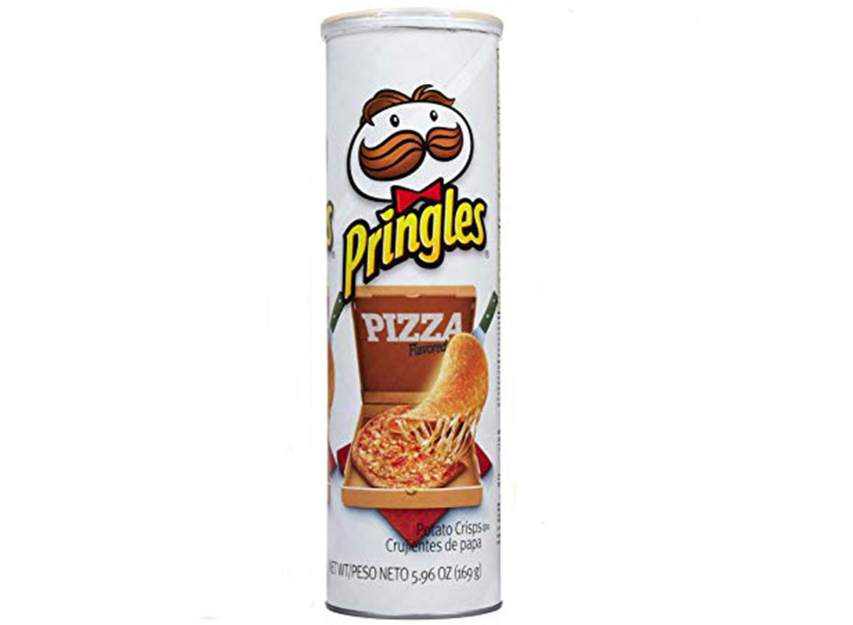 pringles pizza flavored chips can
