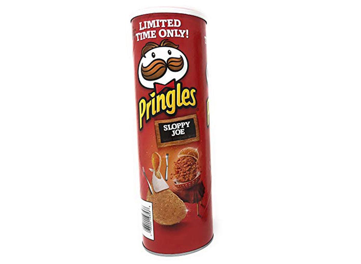 pringles sloppy joe flavored chips can