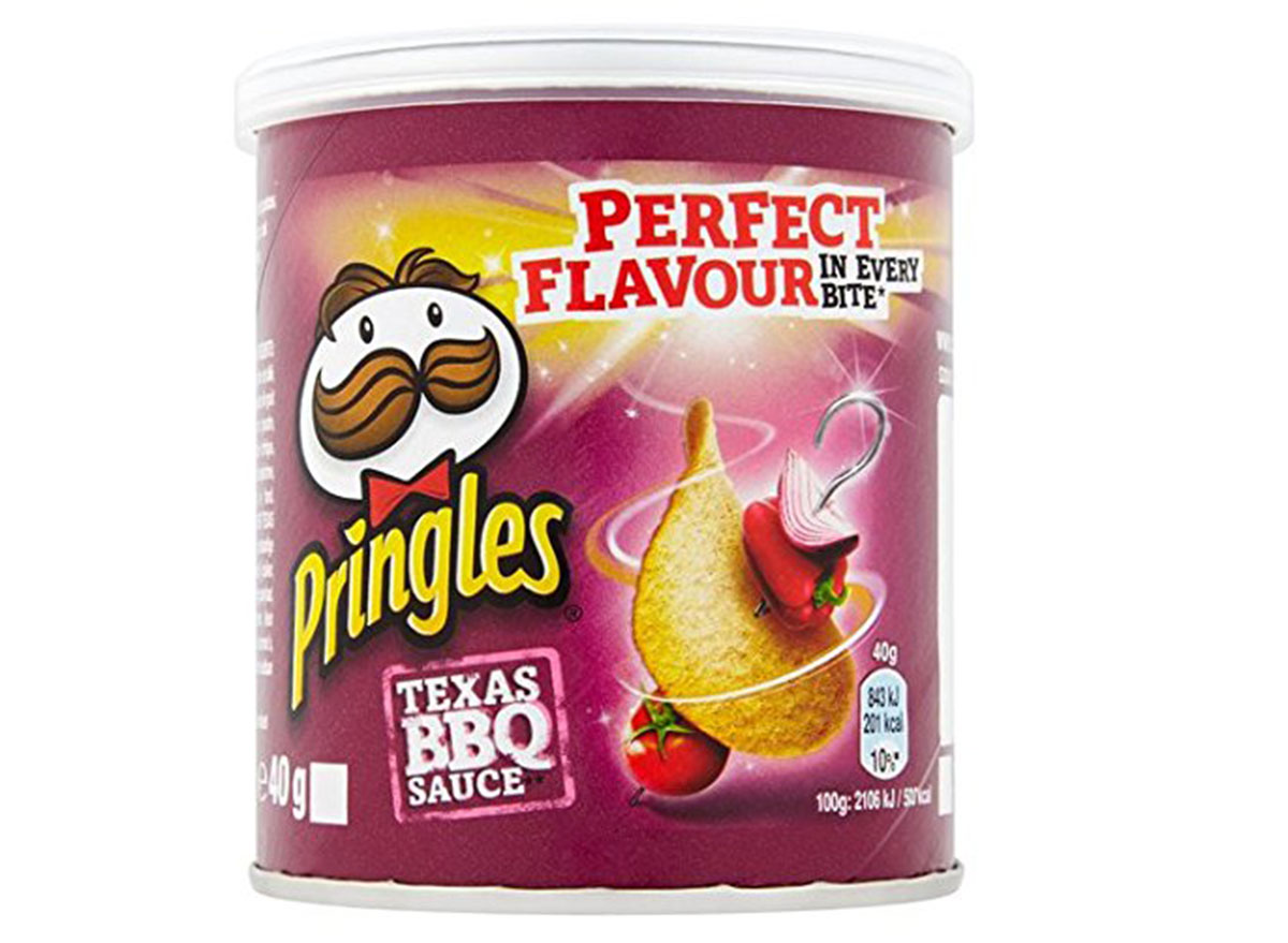 pringles texas bbq sauce flavored chips can