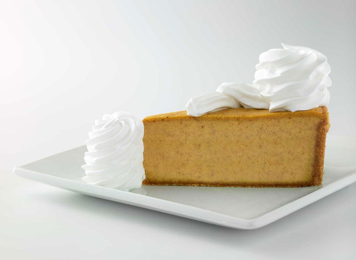cheesecake factory pumpkin cheesecake slice