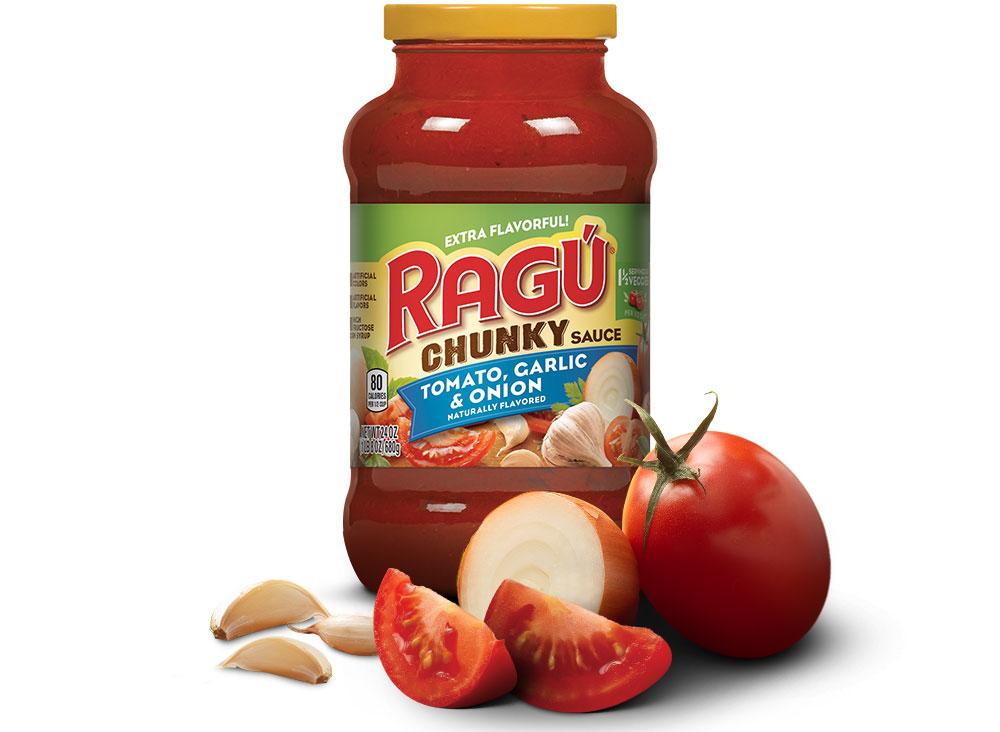 ragu chunky tomato garlic onion sauce