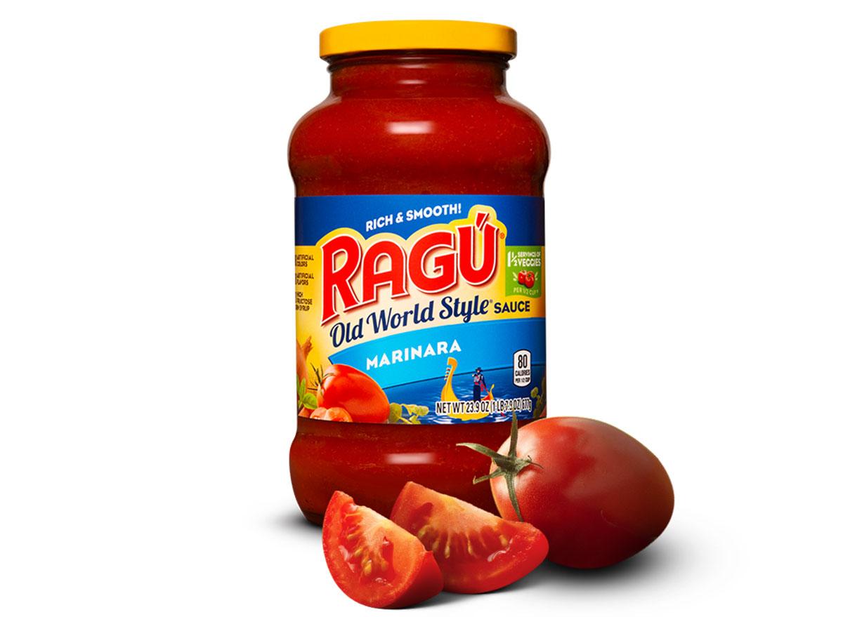 ragu old world style marinara sauce jar