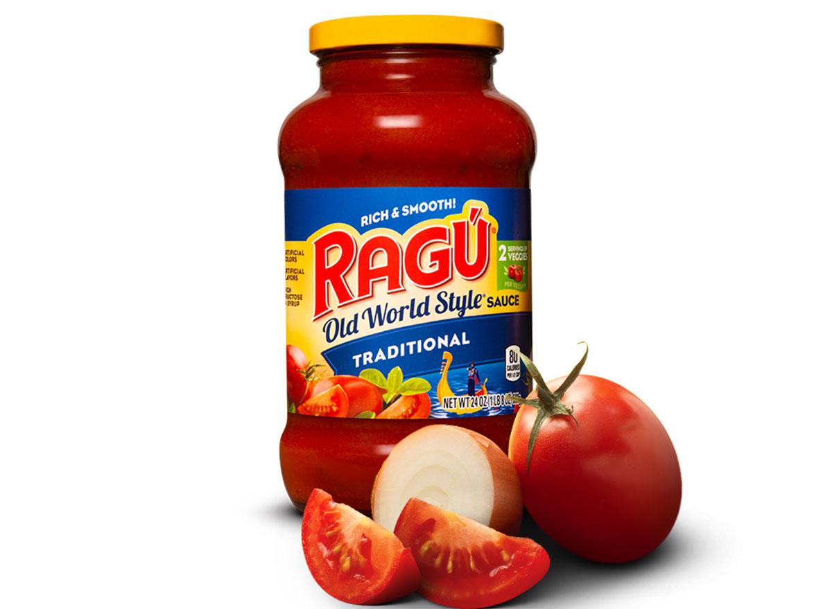 ragu old world style traditional tomato sauce jar
