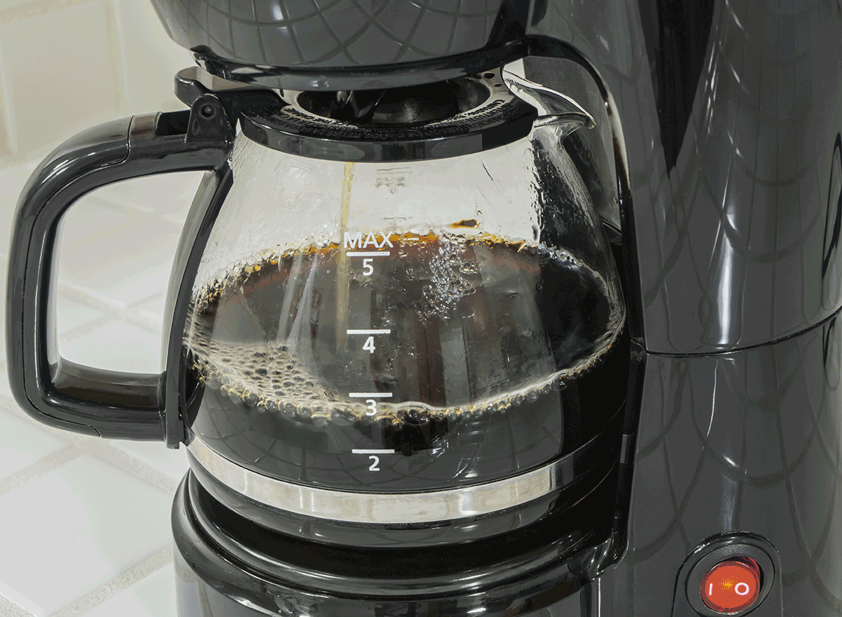 running coffee pot