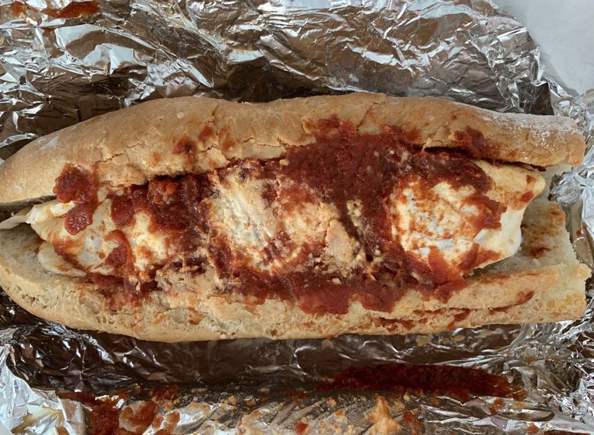 second street bakery meatball sub sandwich image in foil