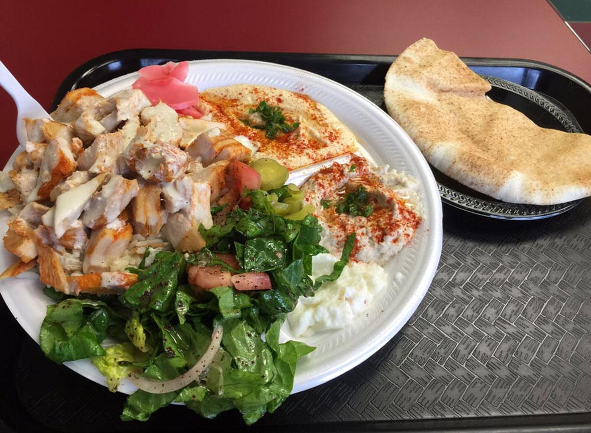 shawarma palace chicken shawarma plate