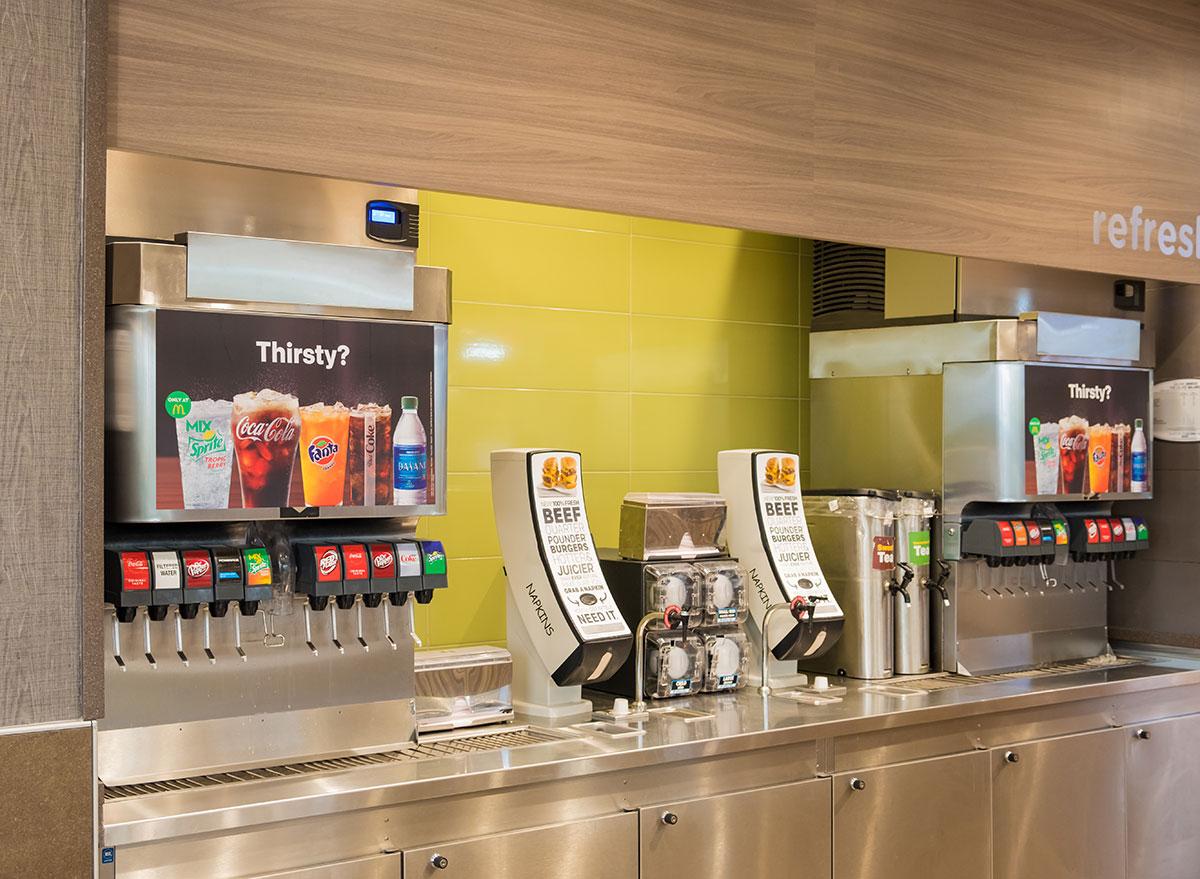 soda fountain station