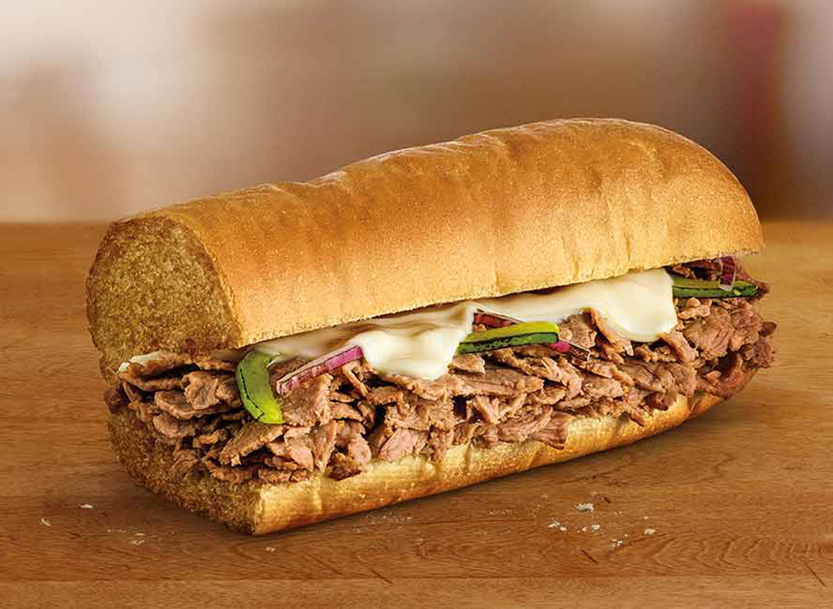 Subway steak and cheese sub - subway nutrition