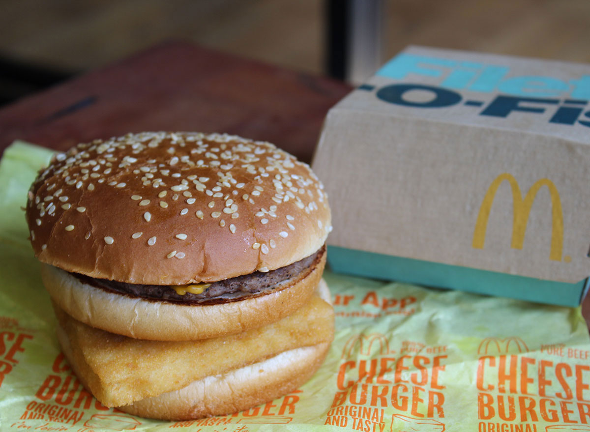 mcdonalds secret menu surf and turf burger
