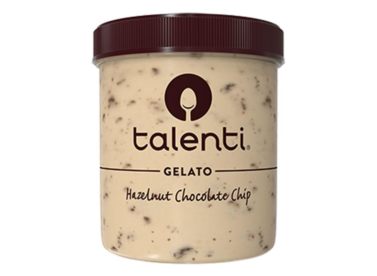 talenti hazelnut chocolate chip gelato ice cream tub