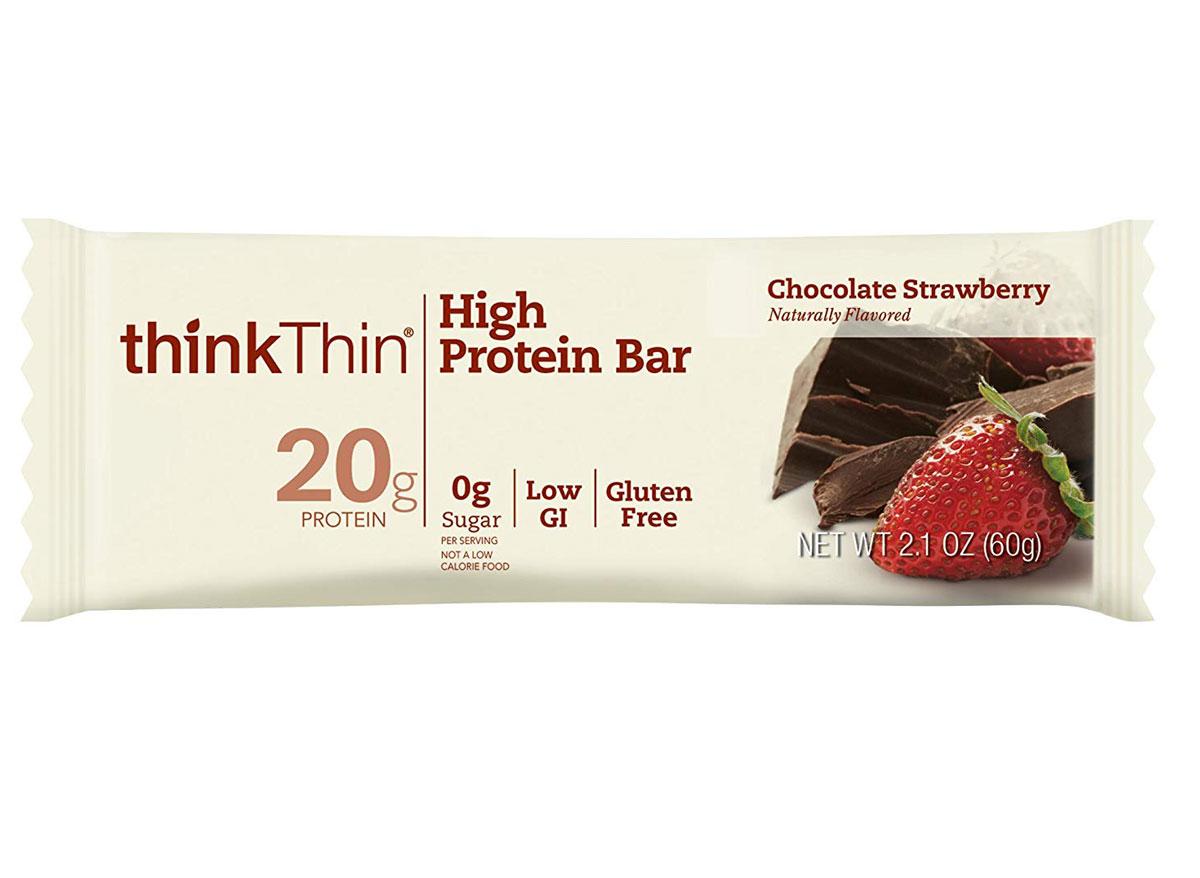 thinkthin chocolate strawberry protein bar