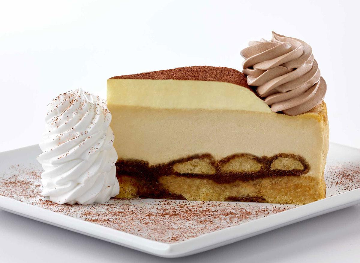 cheesecake factory tiramisu cheesecake slice