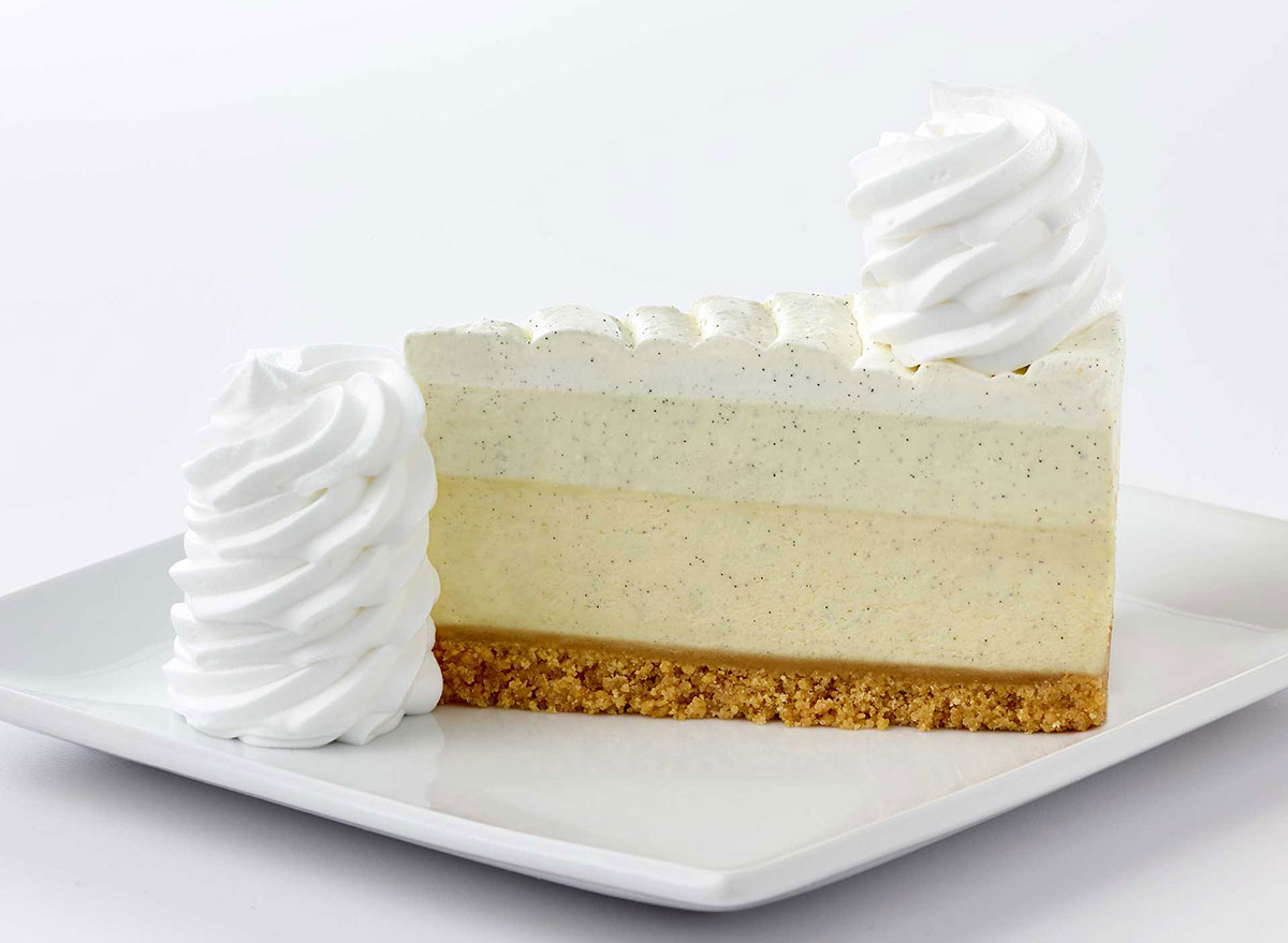 cheesecake factory vanilla bean slice