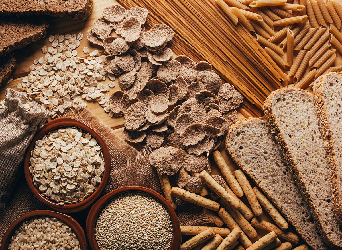 whole grains pasta cereal bread