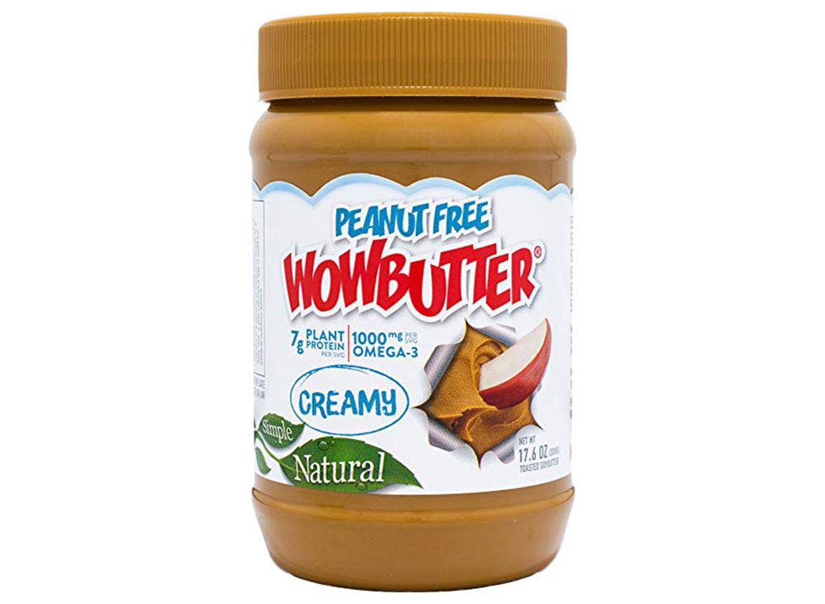 wowbutter peanut free creamy jar