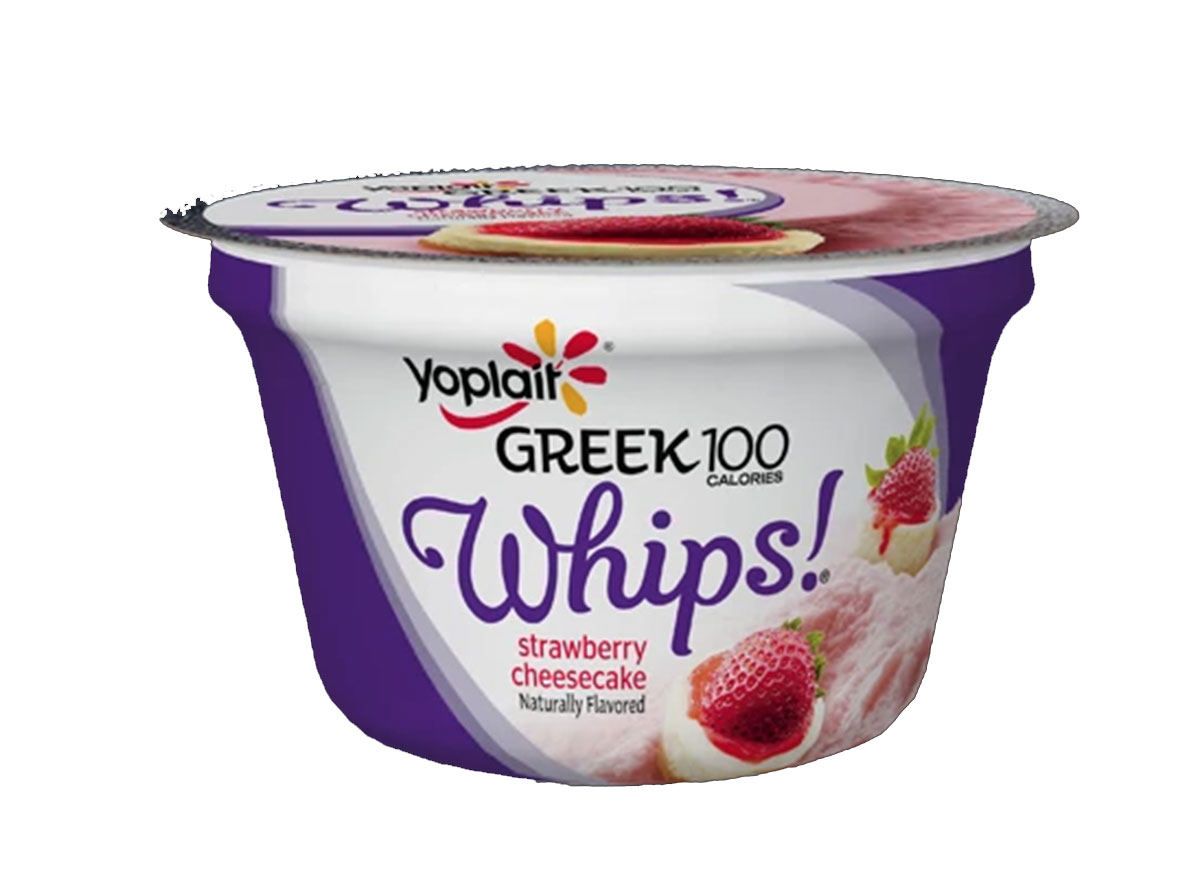 Yoplait greek 100 calories whips cup strawberry cheesecake flavor