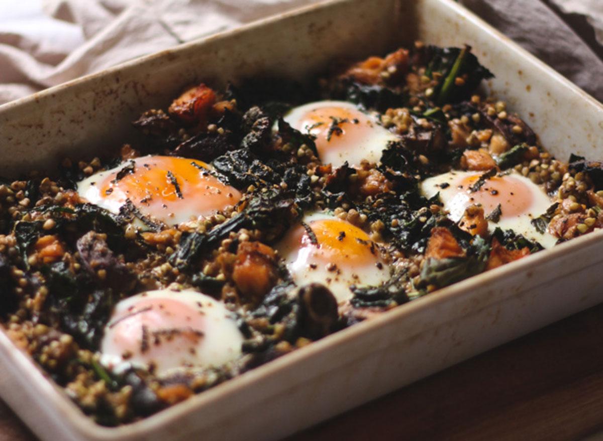 baked eggs smoke salmon recipe