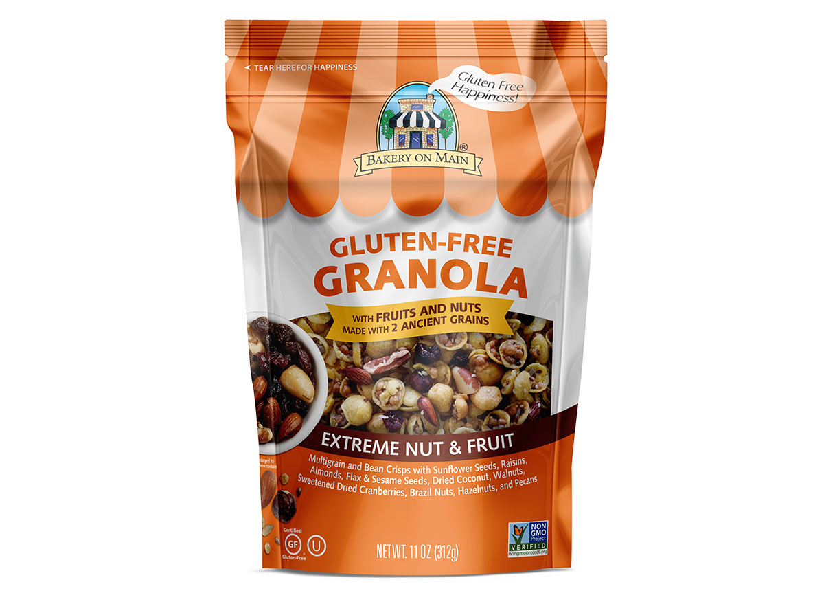 bakery on main extreme nut and fruit gluten free granola bag