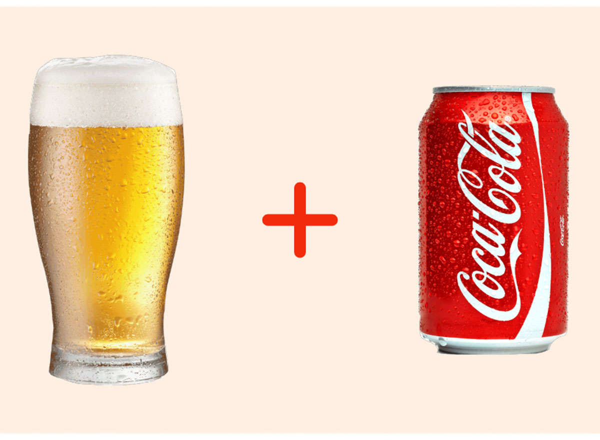 beer with coke gross drink combo
