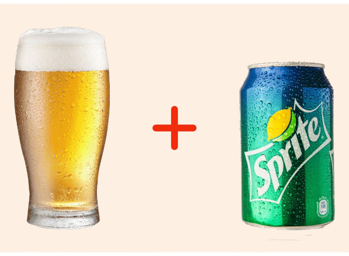 beer with sprite gross drink combo