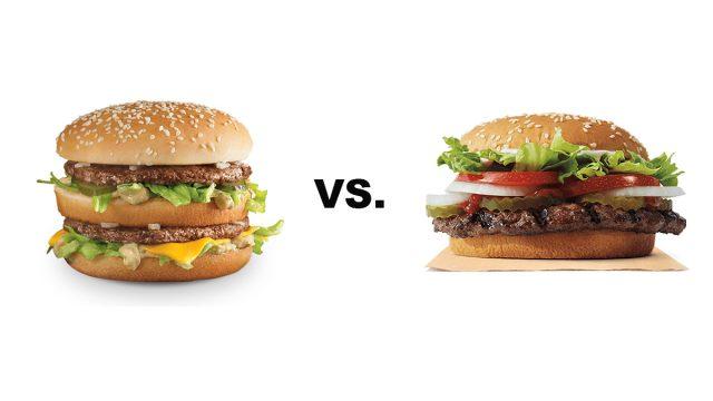 mcdonald's big mac vs. burger king's whopper