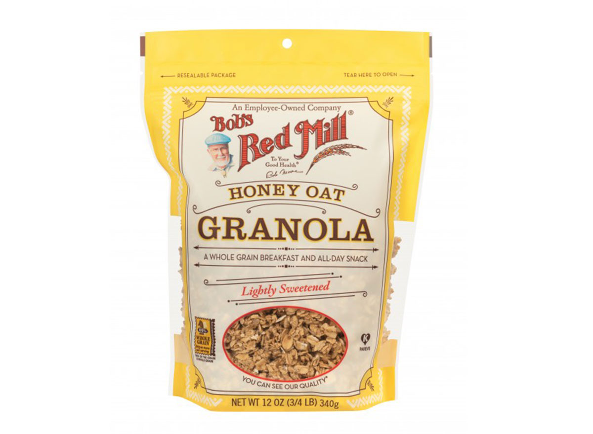 bobs red mill lightly sweetened honey oat flavored gluten free granola