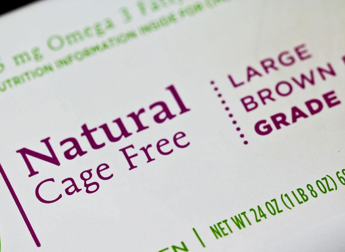cage free egg carton