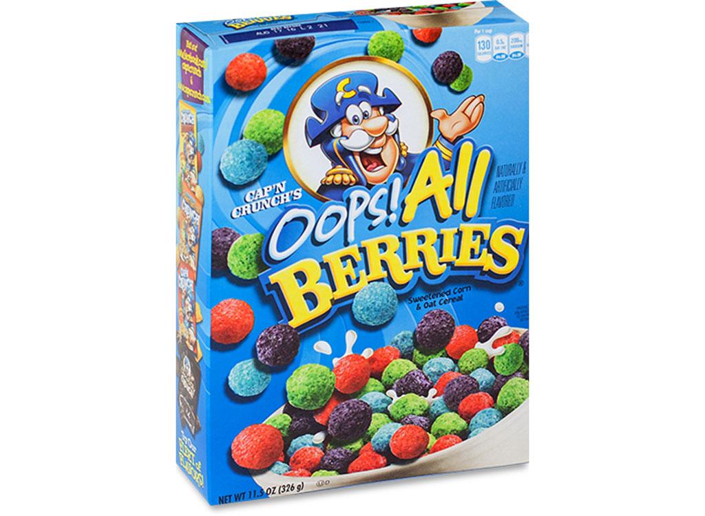 Captain crunch oops all berries - unhealthiest worst cereals
