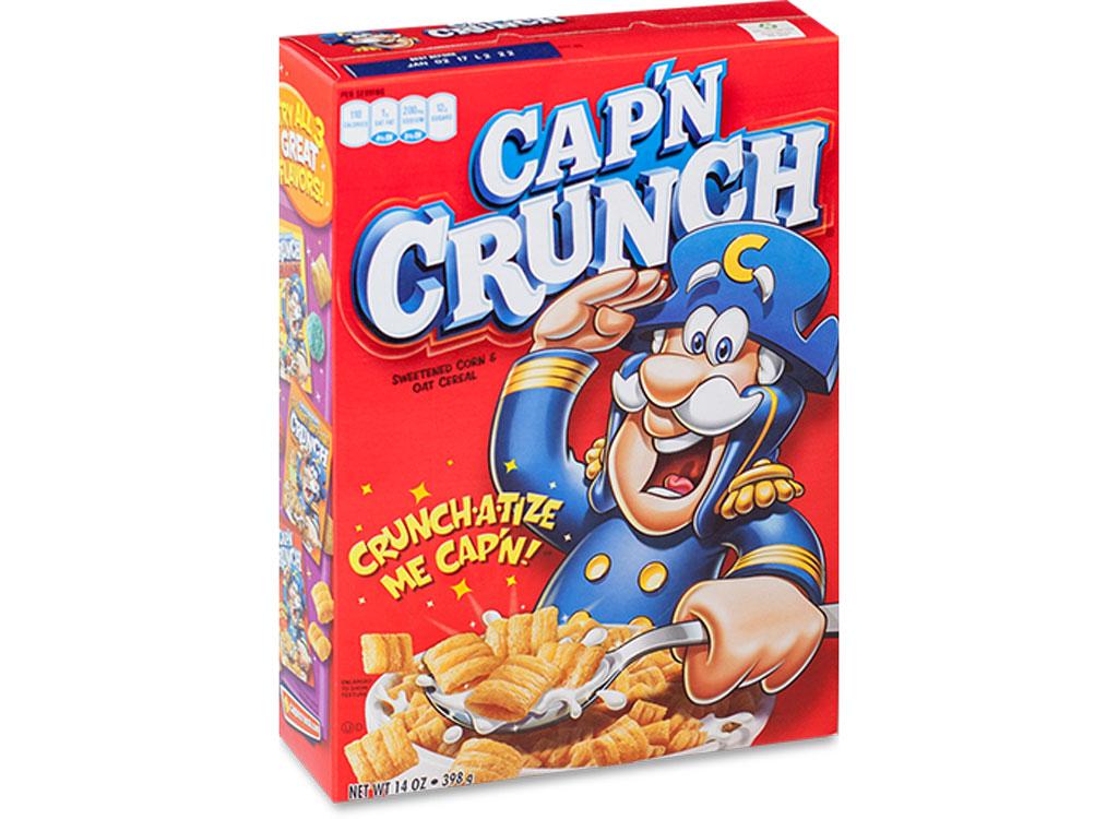 Capn crunch original - unhealthiest worst cereals