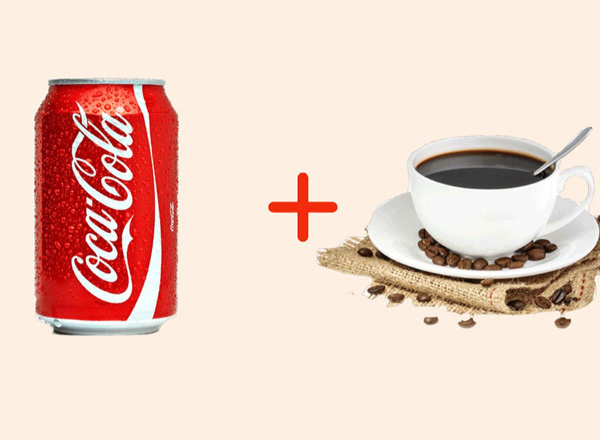 coke with coffee gross drink combo