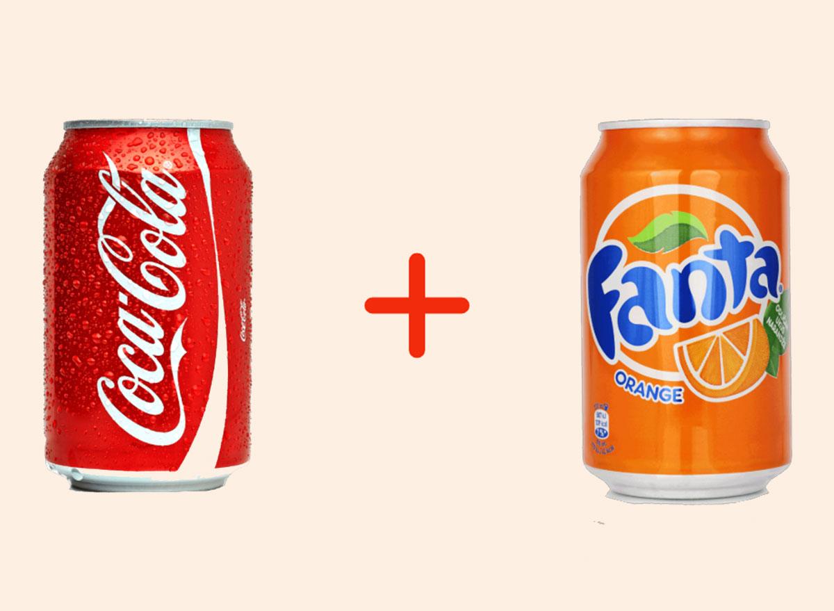 coke with orange fanta gross drink combo