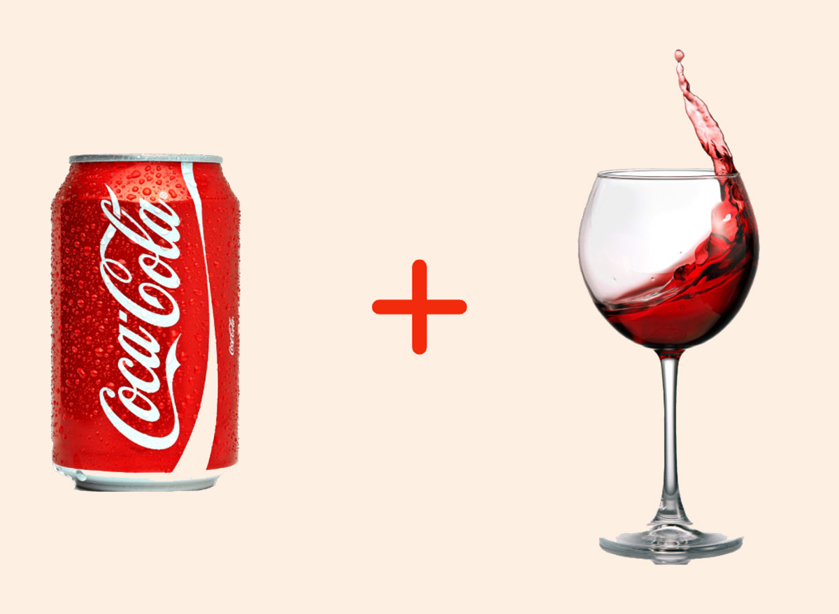 coke with red wine gross drink combo