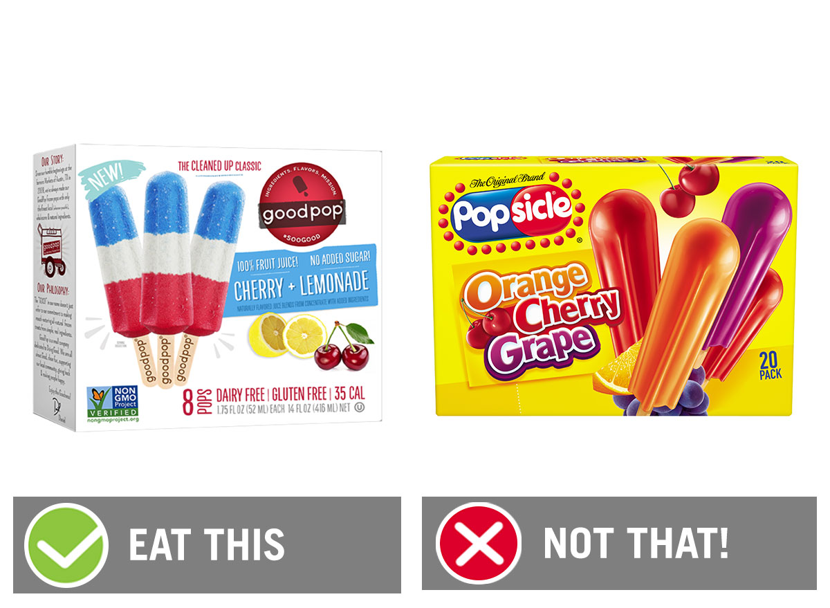 eat this not that popsicle