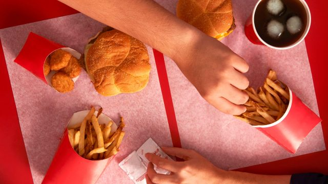 Fast food combo value meal