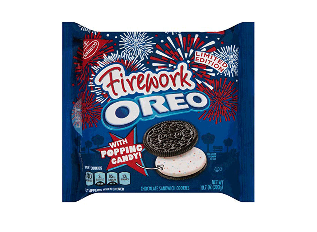firework oreo pack limited edition with popping candy