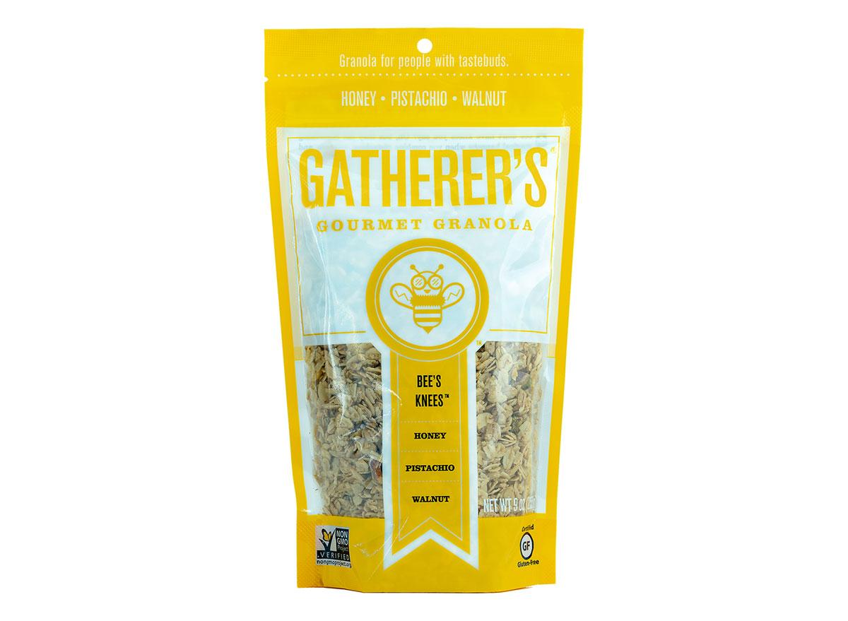 gatherers gourmet bee knees honey pistachio walnut flavored gluten free granola