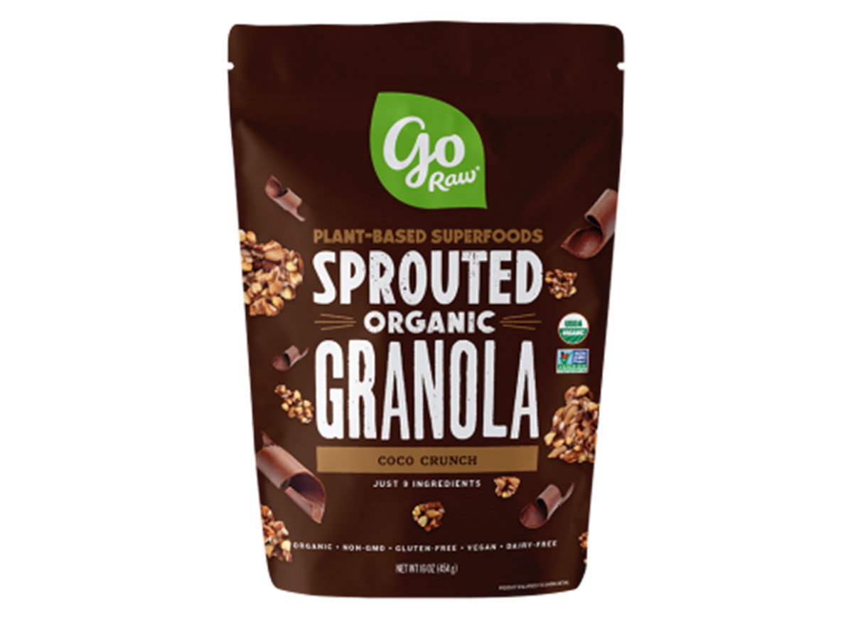 go raw sprouted organic coco crunch flavored gluten free granola