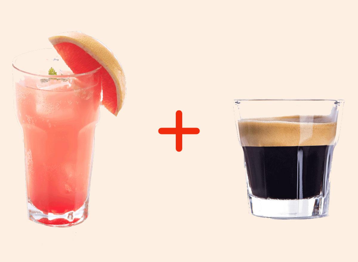 grapefruit soda with espresso gross drink combo