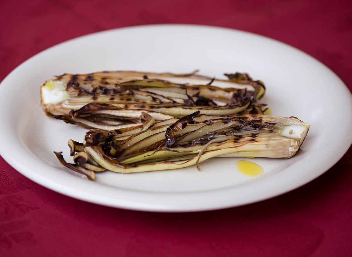 grilled endive (radicchio)
