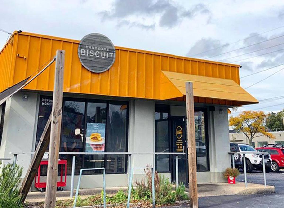 handsome biscuit restaurant entrance