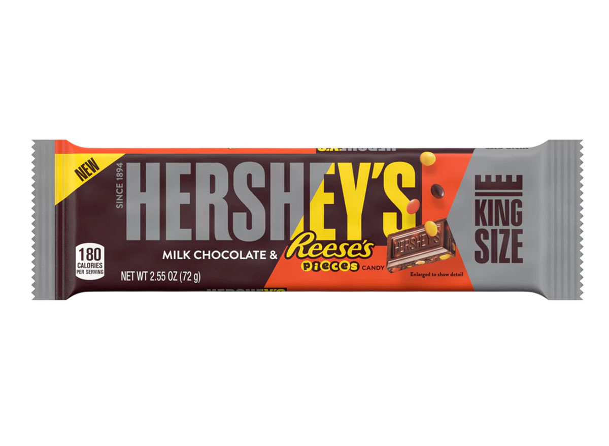 hershey's reese's pieces milk chocolate king size candy bar